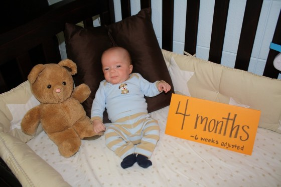 Eli is 4 months old! (6 weeks adjusted)