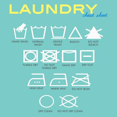 Laundry Sign aqua